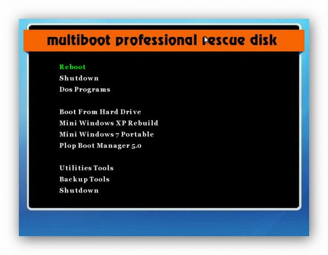download reboot disk for windows 7