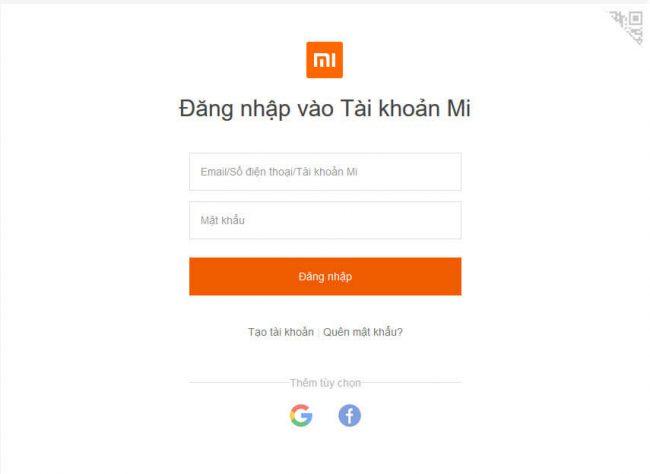 Quen Mat Khau Dien Thoai Xiaomi