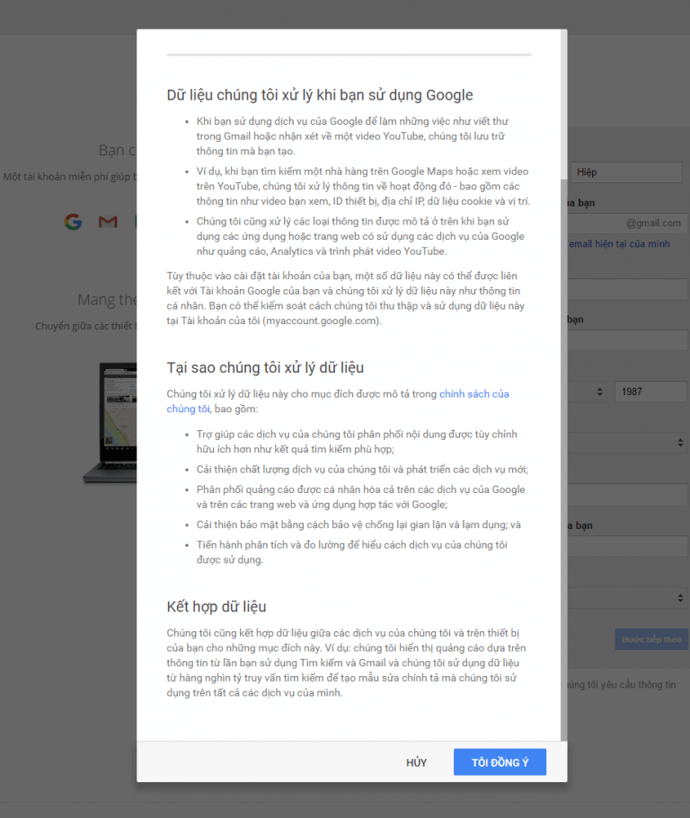 Dang Ky Tai Khoan Gmail 2