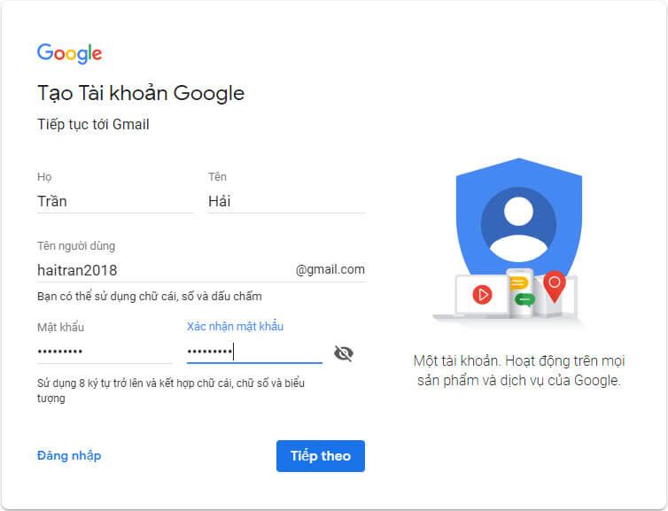 Huong Dan Dang Ky Tai Khoan Gmail