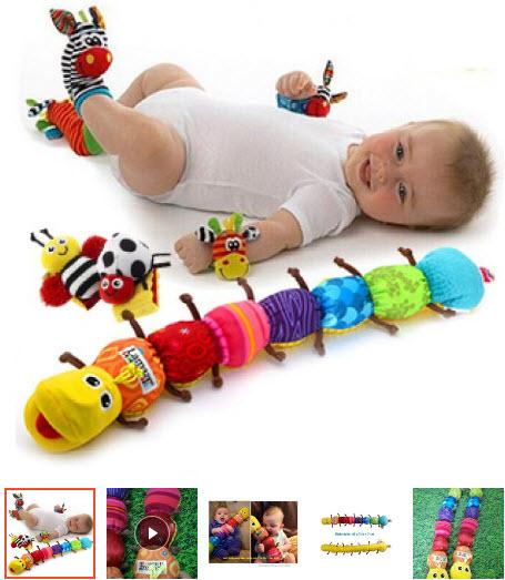 đồ chơi con sâu cho bé 1 tuổi