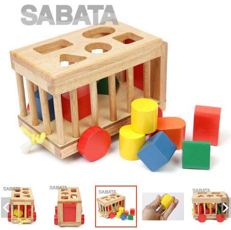 đồ chơi bằng gỗ cho bé 1 tuổi