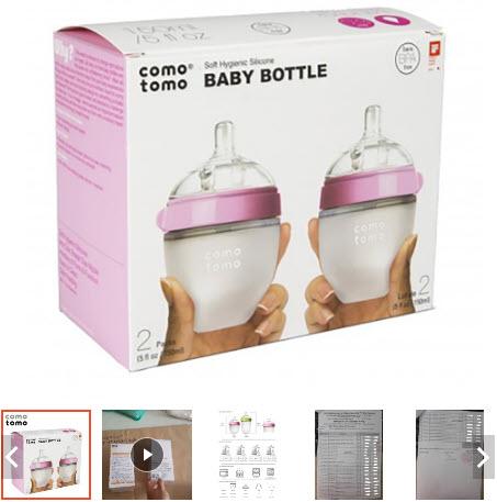 bình sữa cho bé từ 3 - 6 tháng