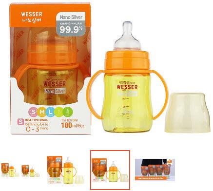 bình sữa cho bé từ 3 đến 6 tháng