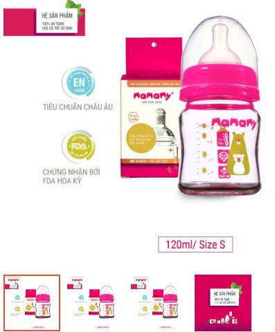 bình sữa Mamary cho bé