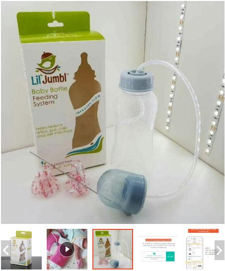 bình sữa rảnh tay cho bé