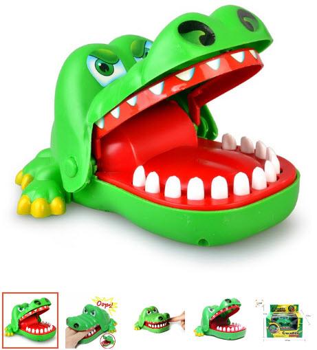 đồ chơi cá sấu kẹp tay cho bé
