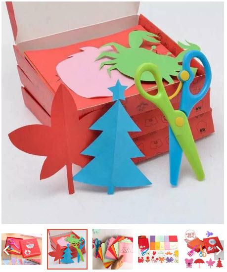 đồ chơi cắt giấy thủ công