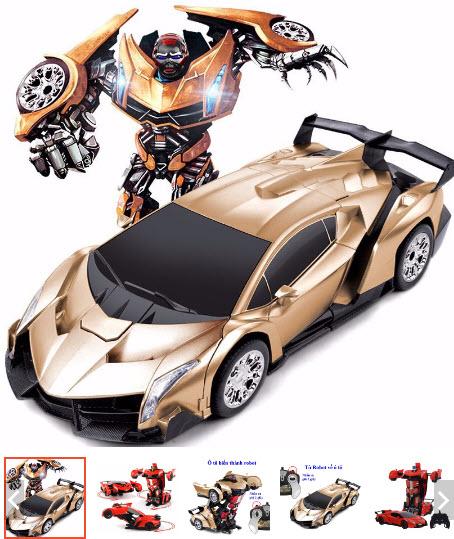 ô tô biến thành robot đồ chơi điều khiển