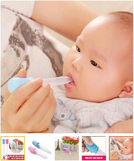 ống hút sữa cho bé lười ti bình