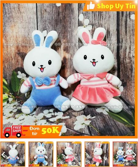 thỏ bông cho bé gái 4 tuổi