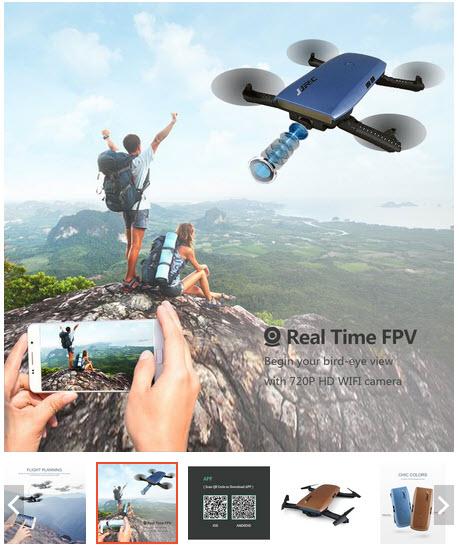 Flycam JJRC H47 Elfie Plus