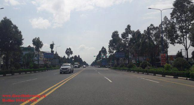 đường đi đến khu đô thị bàu bàng