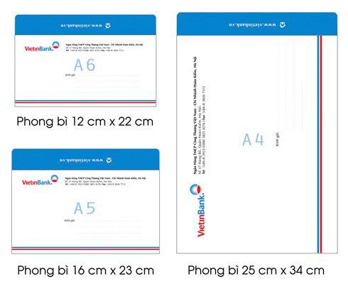 Các loại khổ giấy dùng in ấn bao thư