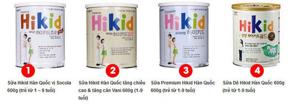 sữa hikid hàn quốc