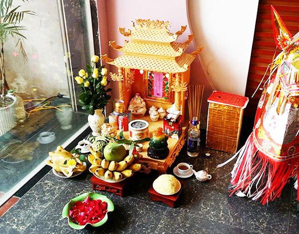 bàn thờ thần tài bằng gốm