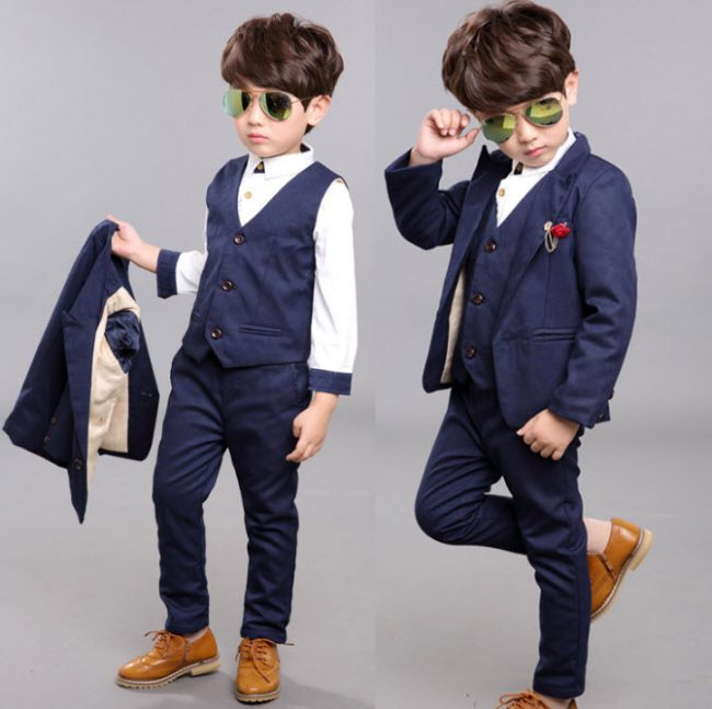Bộ vest bé trai 3 mảnh