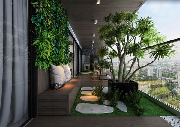 nội thất cây xanh