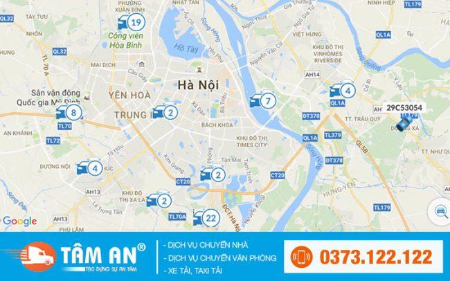 bản đồ taxi chuyển nhà