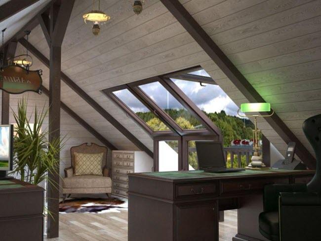 lấy sáng từ mái nhà