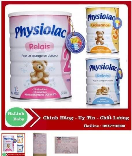 sữa bột Physiolac