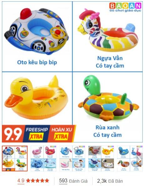 phao bơi cho bé 3 tuổi