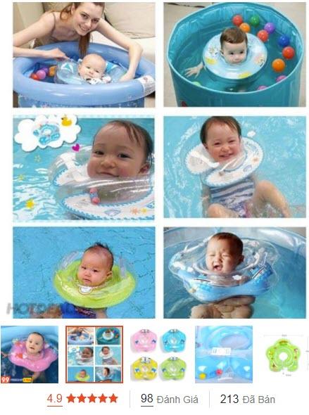 phao bơi cho trẻ sơ sinh