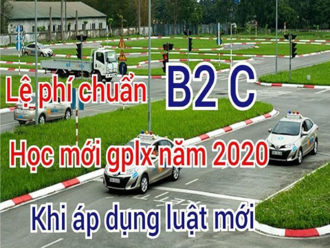 lệ phí thi bằng lái xe b2