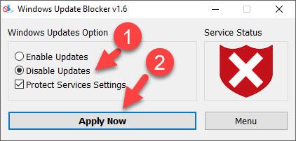 Windows Update Blocker v1.6