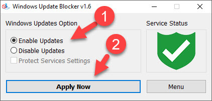 mở cập nhật windows