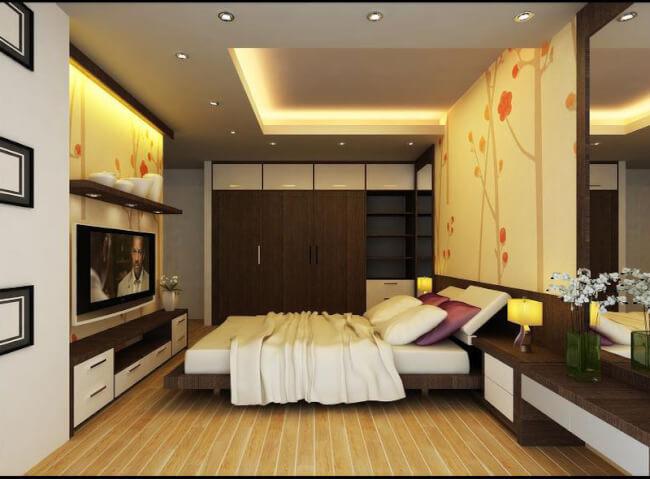 trang trí đèn phòng ngủ