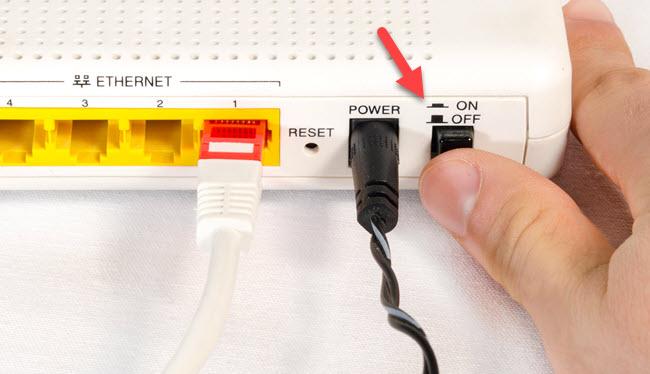 tắt modem wifi